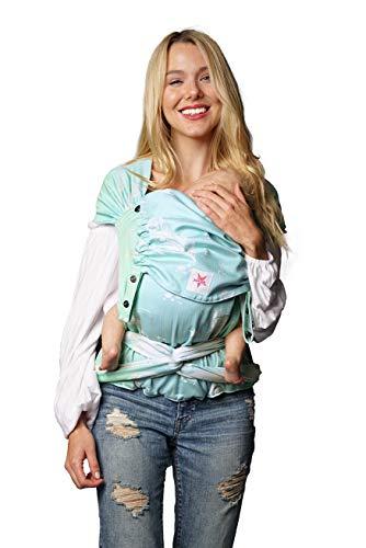 Porte-bébé : KOKADI® WrapStar Plumes Sky (Toddler) ✓ Nouveau-né & jeunes enfants ✓ Ergonomique ✓ Chevalet réglable ✓ Coton bio ✓ 7-20 kg ✓ Sac gratuit