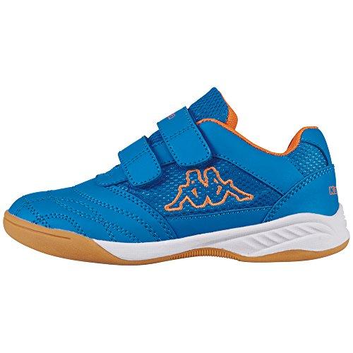 Kappa Unisex-Kinder Kickoff K 260509K-6044 Low-Top, Blau 6044 Blue Orange, 30 EU