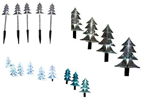 LED Solarleuchte Weihnachtsbäume Tannenbaum Dekoration Gaten 16082 Weihnachten Deko