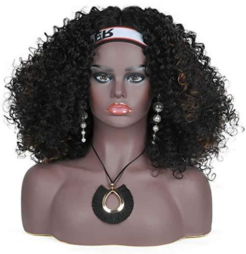 Mannequins Femme Tête avec épaules et Bust Peau foncée Affichage Tone for Perruques Lunettes de Soleil Boucles d'oreilles Collier