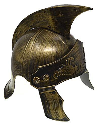 VENTURA TRADING HT7 Casco centuriano con Protector Facial móvil Casco de Gladiador Casco Romano Armadura Romana Espartano Griego Gladiador Antiguo Guerrero Armadura