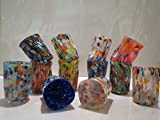 Tipico ''Goti'' in vetro di Murano disponibile in 12 colori murrine millefiori