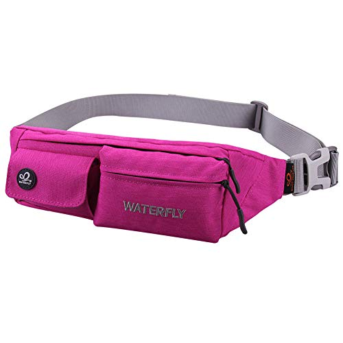 """Lightweight Compact Size: The slim fanny pack measures about 8""""x2.5""""x4.3"""" with only 5oz weight. You won't feel bulky when you wear it with all necessary stuff like phone, key, cards, cash and so on, suitable for running jogging dog walking biking hik..."""