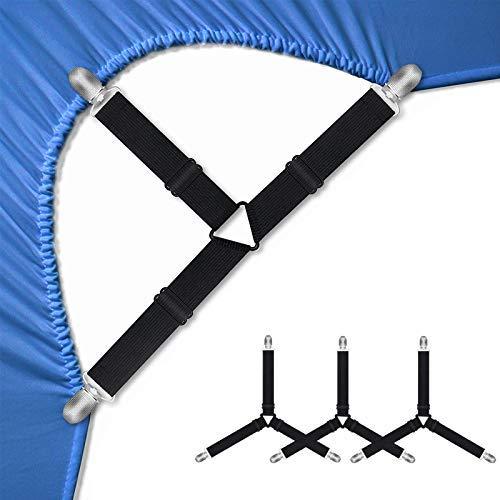 Soporte de sábanas correas ajustables para sábanas de cama Keepers soportes de sábanas tirantes de la cubierta de colchón esquinas sujetadores Clips