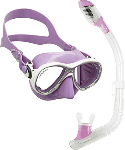 Cressi Youth Kids Snorkeling Mask and Dry Snorkel Kit - Marea Jr & Mini Dry: Designed in Italy