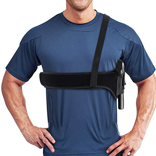 Pvnoocy Shoulder Holster, Underarm Deep Concealment GunHolster for Men and Women, Fits Most Subcompacts and Compacts Pistols for S&W Bodyguard Ruger(45
