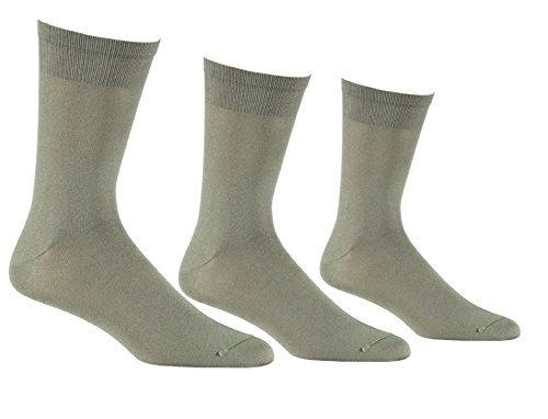 Fox River Men's Wick Dry Altura Crew Sock Liner, 3 Pack (Olive, Large)