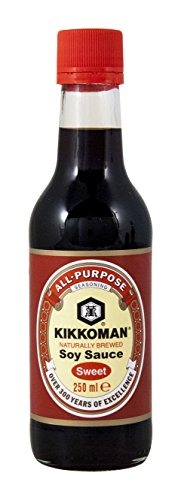 salsa de soja Kikkoman dulce, elaborada de forma natural - 250ml