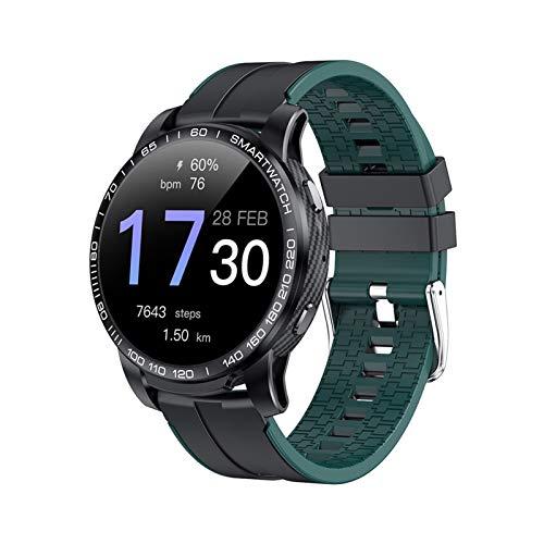 YNLRY Reloj inteligente PW20 con llamadas Bluetooth para hombre, presión arterial, 24 horas, frecuencia cardíaca, multimodo, deportivo para Android IOS (color verde)
