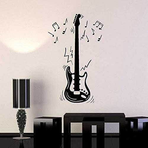 Notas de guitarra eléctrica Instrumento musical Música Vinilo Tatuajes de pared Decoración...