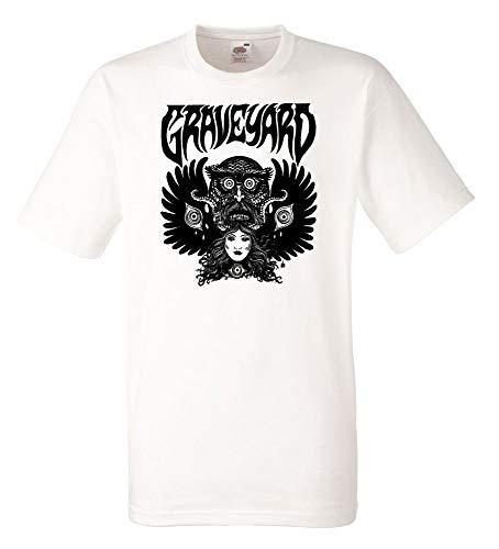 Graveyard Tape White Mens Tshirt Men Rock Band Tee Shirt
