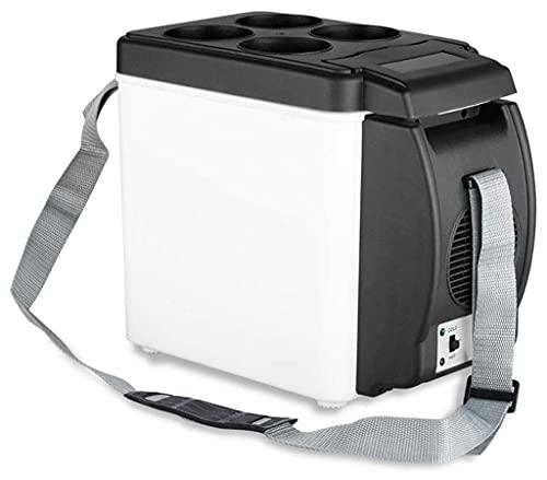 Mini Refrigerador de Camping para El Hogar del Coche de 12V 6L, Nevera Eléctrica, Nevera y Congelador Portátil de Viaje Más Cálido para Coche, Camión