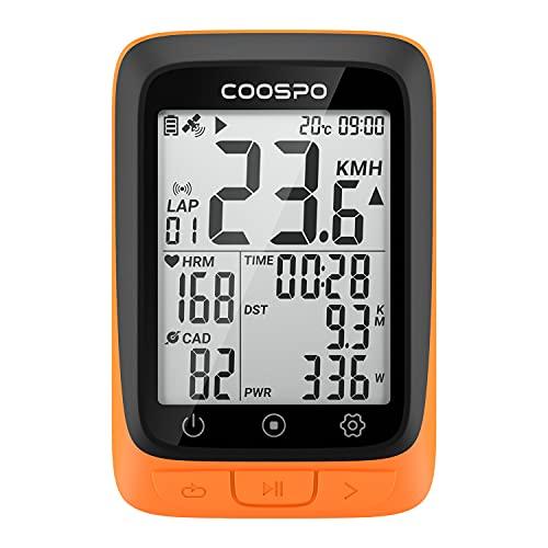 COOSPO BC107 GPS Ciclismo Ordenador Inalámbrico Ciclocomputador Computadora Bicicleta Impermeable, Bluetooth/Ant+, Pantalla LCD de 2,3 Pulgadas