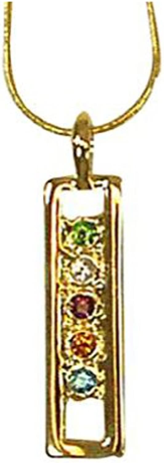 Exselle Pendant w  colord Stones
