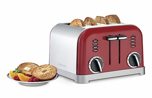 Cuisinart CPT-180MRP1 CPT-180MR Classic 4-Slice Toaster, Metallic Red