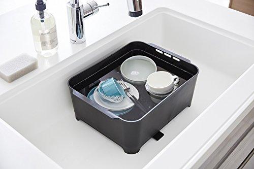 山崎実業漬け置きできる水切りラック洗い桶タワーブラック3592