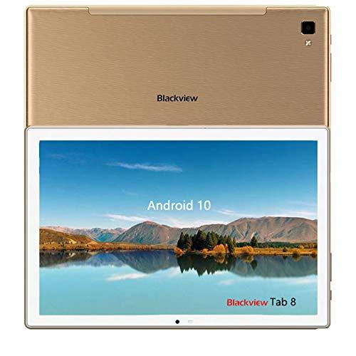 Blackview Tab8 Tablet 10.1' FullHD, 4GB RAM+64GB ROM, Octa-Core,Batería 6580mAh,Face ID Wi-Fi/GPS/OTG/Bluetooth,Gloden