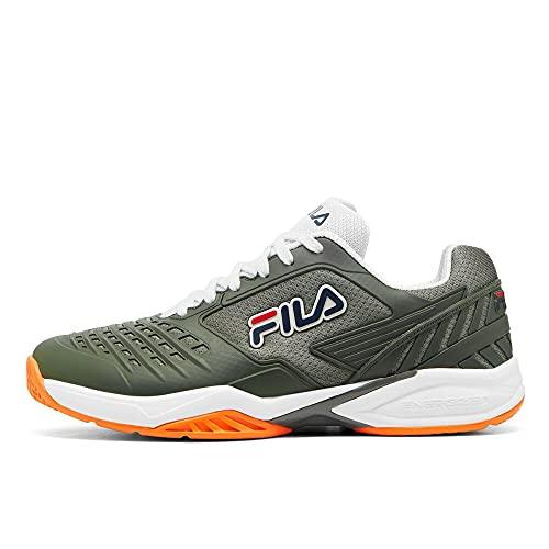 Fila Men's Axilus 2 Energized Tennis Shoe (Agave Green/White/Shocking Orange, 10)