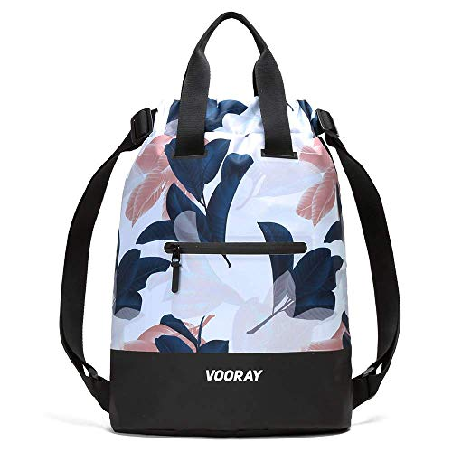Vooray 23L Ultra-Durable Flex Cinch Gym Drawstring Backpack Sackpack for Women (Guava)