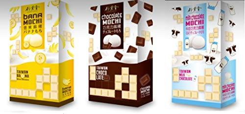3 Flavour Chocolate Japanese Daifuku Mochi Happy Pack - Chocolate Milk