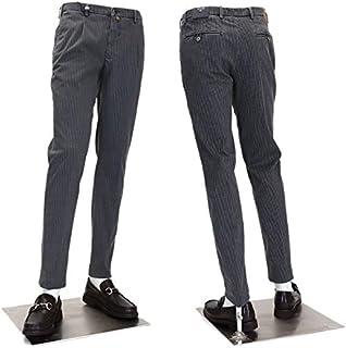 [バルバッティ] ロングパンツ イタリア製 ストレッチ コットンパンツ メンズ ワンタックパンツ ウォッシュ加工 23000BK