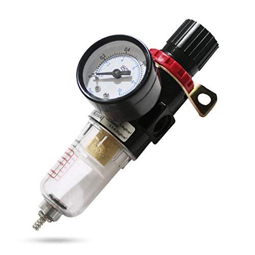 Druckluft Wasserabscheider,Druckluftregler,Mengger Filterdruckminderer 1/4 Druckluft Wasserabscheider Kompressor Druckminderer mit Filter und Manometer Druckluftregler