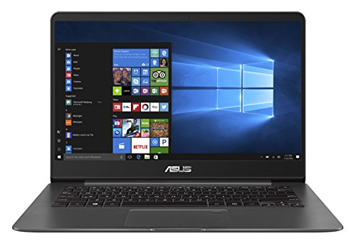 "ASUS ZenBook UX430UA-DH74 Ultra-Slim Laptop 14"" FHD wideview display 8th gen Intel Core i7 Processor, 16GB DDR3, 512GB SSD, Windows 10, Backlit keyboard, Quartz Grey"