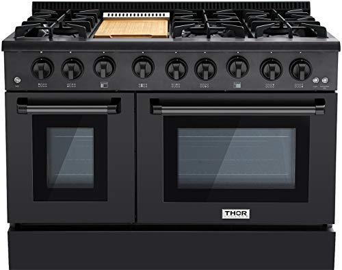 THOR KITCHEN 48 Gas Range Professional Kitchen Style Natural Gas,...