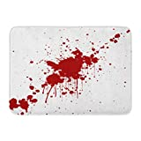 """Emvency Doormats Bath Rugs Outdoor/Indoor Door Mat Blood Splatter Red Color Illustraitttion Spatter Splash Splat Stain Bathroom Decor Rug Bath Mat 16"""" x 24"""""""