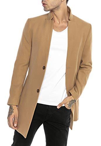 Redbridge Abrigo de Hombre Chaqueta Elegante Larga Slim Fit Classy Understatement Marrón XL