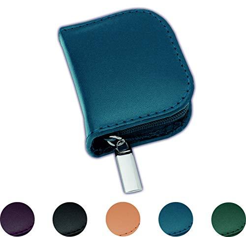 Homöopathie Taschenapotheke Klassik mit 10 Klargläsern Leder blau für Globuli