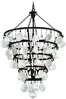 Troy Lighting Barista 12-Light Chandelier - Vintage Bronze Finish with Porcelain Coffee Cups and Crystals
