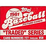 1981 Topps Baseball Traded Series 132 Card Set. Loaded with Great Players Including Danny Ainge's Rookie (Yes, the Boston Celtic Star), Joe Morgan, Tim Raine... rookie card picture