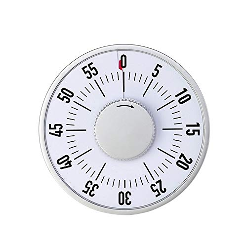 Jtoony Keuken Timer Keuken Timer Visuele Mechanische Countdown Koken Timer 60 minuten Koken Timer Handmatige Countdown Herinnering Bakken Timer Met Alarm Geluid Digitale Koken Timer