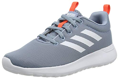 adidas Unisex-Child Lite Racer CLN Sneaker, Tactile Blue/Footwear White/Semi Solar Red, 35.5 EU