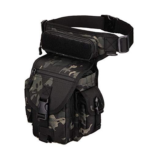 Huntvp® Taktisch Beintasche Militär Beinbeutel MOLLE Hüfttasche Tactical Leg Bag Armee Beintaschen Wasserdicht Werkzeugtasche Tasche für Bein Herren Damen Motorrad Outdoor, Typ-1-Grau Camouflage