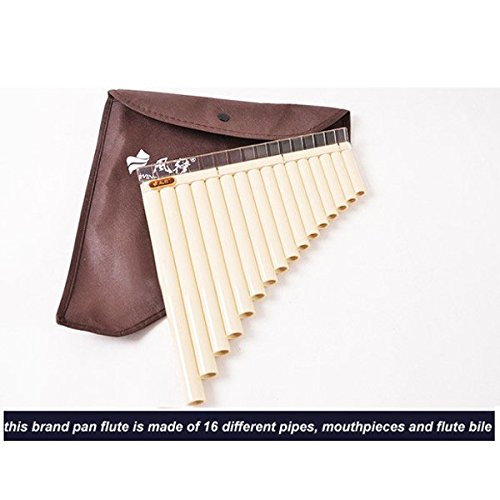 16 Tube Eco-friendly Resin C tone Pan Flute Easy Learning