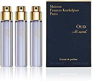 Maison Francis Kurkdjian OUD SILK MOOD Extrait de Parfum Travel Spray Refill, 3 x 11ml