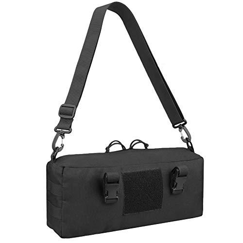JETEDC(ジェットイデイシイ)molle バッグ サバゲーバッグ バックパック ベルト付き サバゲー 釣り 小物入り 通勤 (ブラック) (黑+1)
