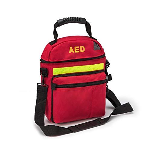 Jipemtra Erste-Hilfe-Tasche, Erste-Hilfe-Tasche, leer, Defibrillator-Tasche, Erste-Hilfe-Tasche, Erste-Hilfe-Tasche, für Notfall-Schutz, rot