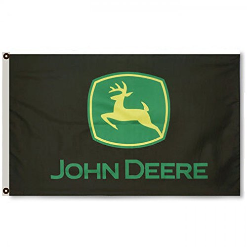2but John Deere Banner-Flagge, 91 x 152 cm, Schwarz