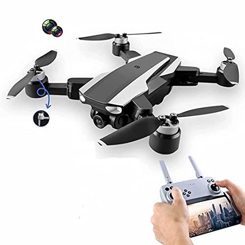 JJDSN Drone con cámara para Adultos 4k - Quadcopter de Drone Ultraligero y Plegable con Motor sin escobillas 25 Minutos de Vuelo, Modo sin Cabeza, 360 Grados;Voltear