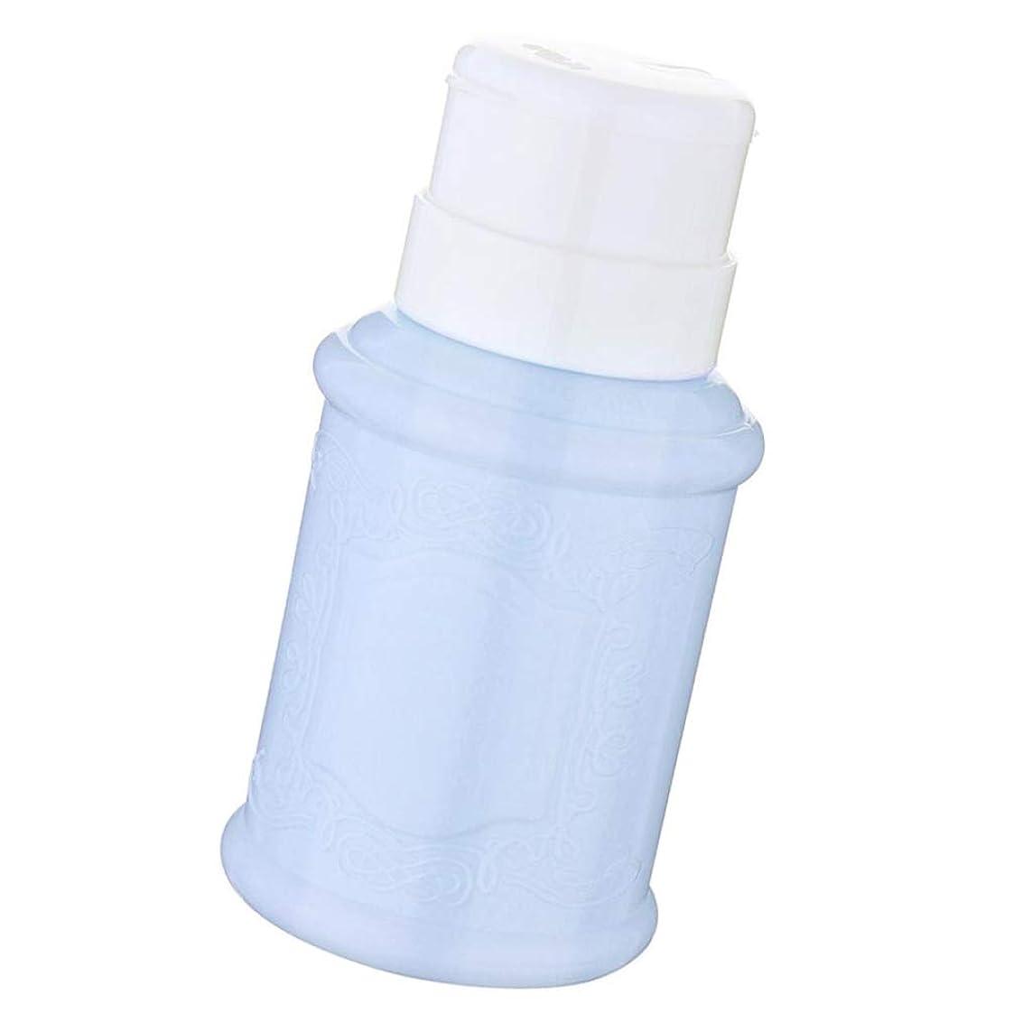 売り手完全にチャンピオンDYNWAVE ポンプディスペンサー ネイル リットル空ポンプ ネイルクリーナーボトル 全3色 - 青