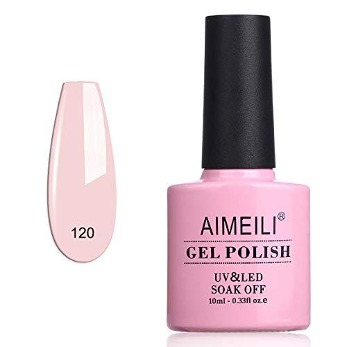 AIMEILI Smalto Semipermente per Manicure Smalti per Unghie in Gel Soak Off UV LED - Rosa Xhybrida (120) 10ml