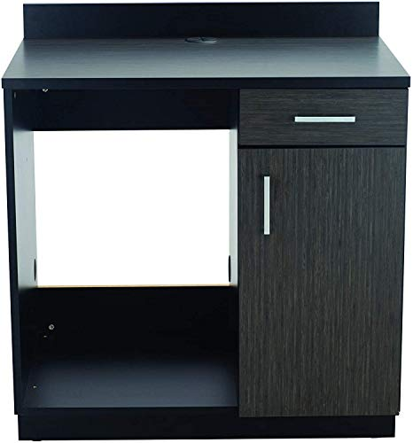 Safco Products 1705AN Modular Hospitality Breakroom Base Cabinet, Appliance, Asian Night Base/Black Top