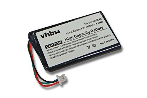vhbw Akku kompatibel mit Garmin DriveSmart 5, 50 LMT-D, 51 LMT-D EU, 55, 61 LMT-S, 65 GPS Navigation Navi (1100mAh, 3,7V, Li-Ion)