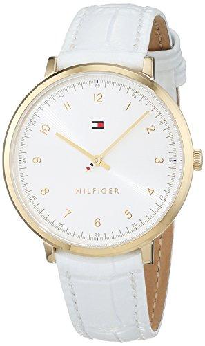 Tommy Hilfiger Damen Analog Quarz Uhr mit Leder Armband 1781763