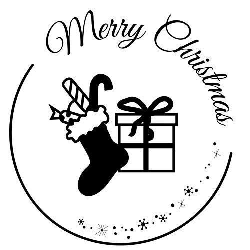 Stemplino Orig Maxistampel - Sello (tamaño grande), diseño navideño con texto 'Merry Christmas Xmas'