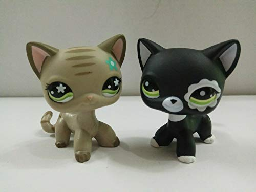 Pet Shop 2pcs Littlest Collection LPS Short Hair Standing Cat