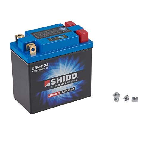 Batería 12 V 3 Ah (8 Ah) YB9-B de iones de litio Shido GT 380 GT380 73-78